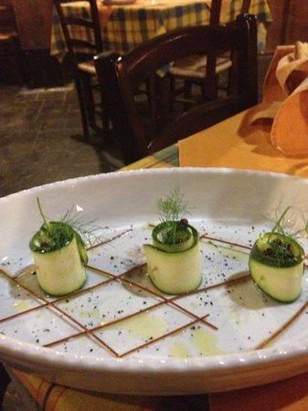 Mineo, Italy: rotolino di zucchina