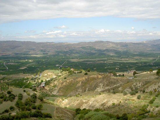 La piana di Catania vista da Mineo