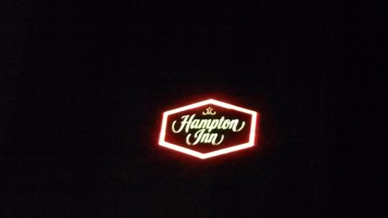 Hampton Inn Asheville - I-26 Biltmore Area: logo at night