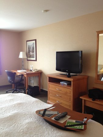Hampton Inn by Hilton Kamloops: desk/tv area