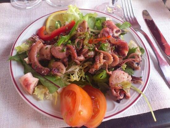 Chez Cesar : salade de poulpe