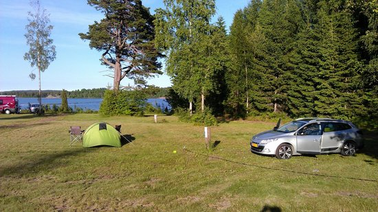 Soderhagen: Our tent and the view