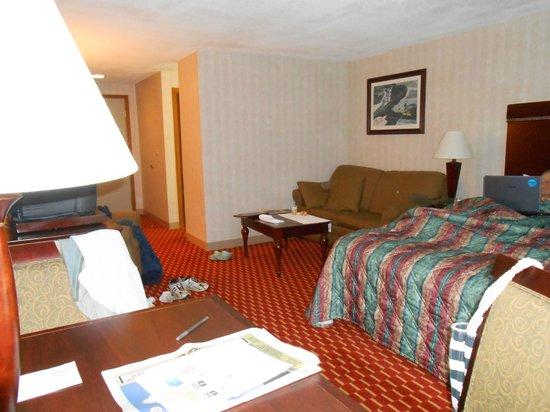 Hampton Falls Inn: our king room...