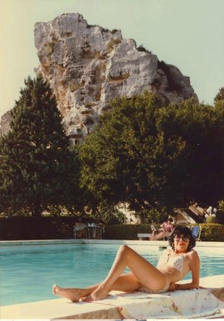 Baumaniere les Baux de Provence: Bauxite rocks stand sentinel over one of Mr Charial's hotels in Les Baux