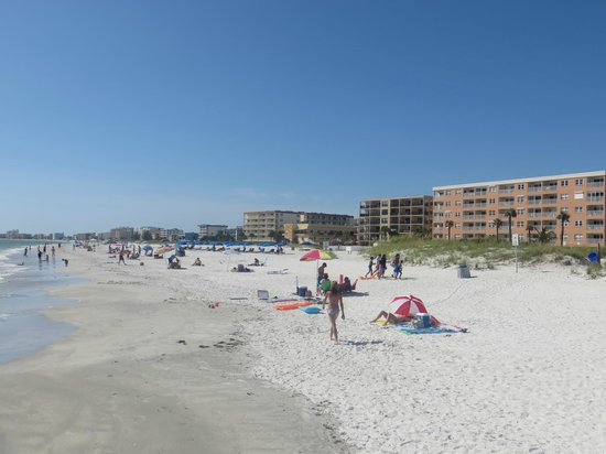 Beach Place Condos at John's Pass Village: The Beach Place from the rock jetty