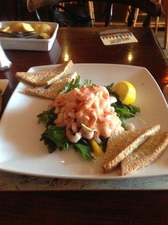 Runswick Bay Hotel: prawn salad