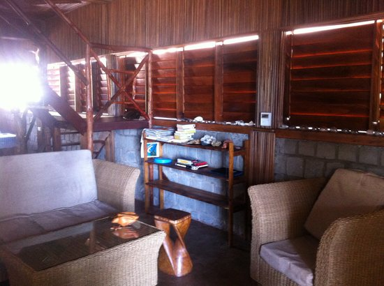Gîte Guyan: Le coin salon.