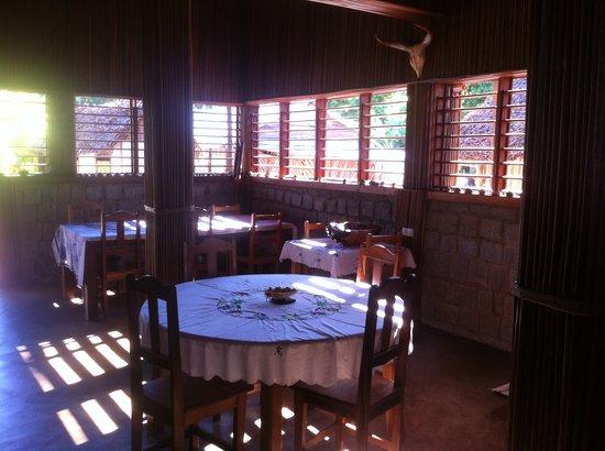 Gite Guyan: le coin repas.