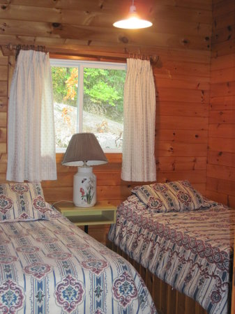 Pier 100 Cottage Resort : Twin Beds in Chalet