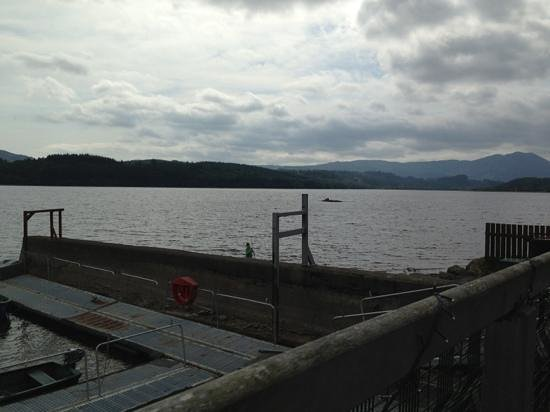 Venachar Lochside: view from outside seating area