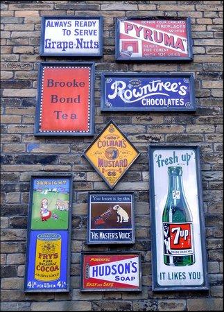Bradford Industrial Museum: vintage enamel signs