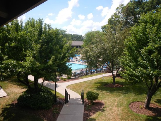 The Abbey Resort: View of the pool from room 2658