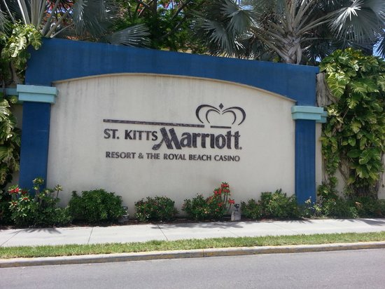 St. Kitts Marriott Resort & The Royal Beach Casino: Hotel Sign Out Front