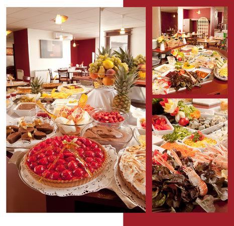 Kyriad Saint Etienne Centre : Les buffets