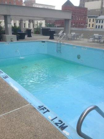 Radisson Hotel Baltimore Downtown-Inner Harbor: The empty pool.  Lovely, isn't it?
