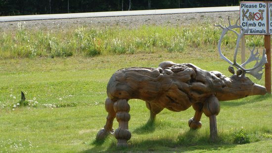 Delta Junction, AK: Animal made of wood