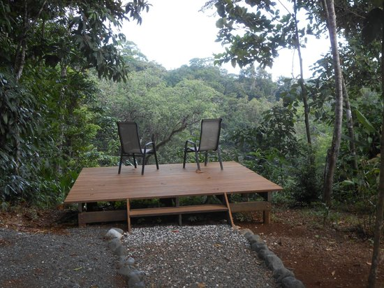 El Remanso Lodge: A lookout point over the rainforest