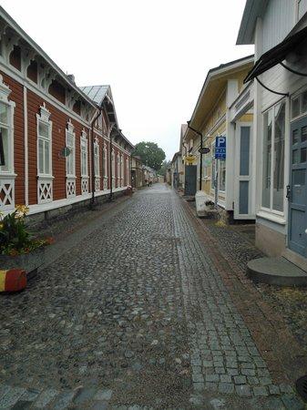 a cobblestone street in Old Rauma
