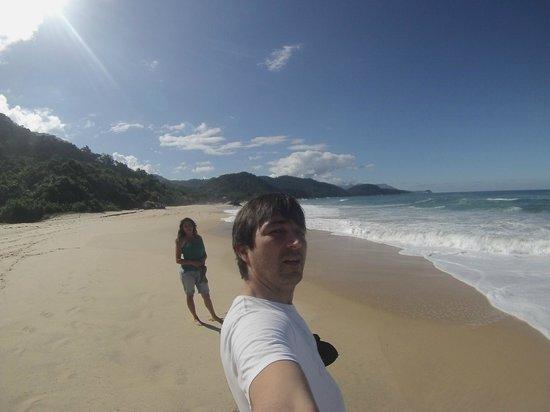 Praia do Cachadaço: Camino a praia cepilho