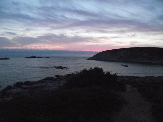 Cala Sapone: tramonto