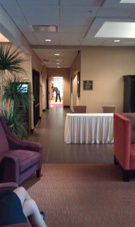 Homewood Suites by Hilton Fort Myers Airport / FGCU: a hallway off the lobby