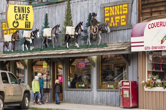 Family shopping time, Ennis, Montana