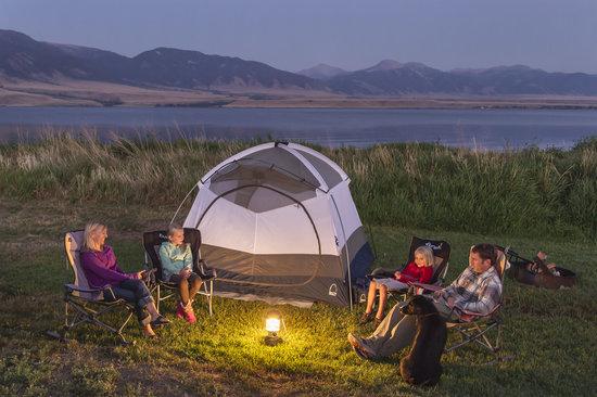 Camping on Ennis Lake, Montana