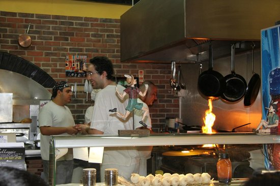 Bellaggio: the chef in action