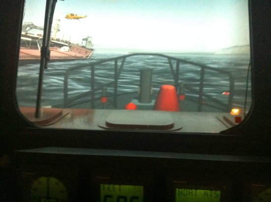 RNLI College Discovery Tour: View from inside the simulator.