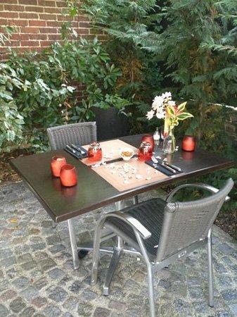 2 eme visite chez il Gritti pour fêter nos 2ans avec ma chérie . belle table dressée spécialemen