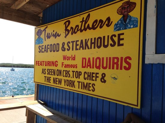 Twin Brothers : sign at the dock