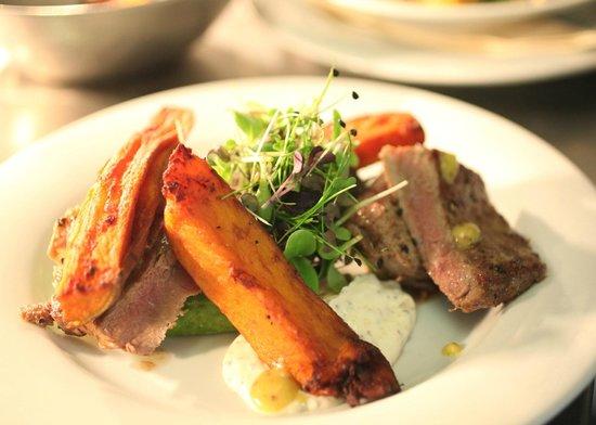 Le Magasin: Holmansbridge Farm Minute Steak, Sweet Potato Wedges, Avocado & Seed Mustard Creme Fraiche £12.9