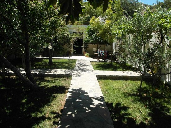 Golden Apartments: View of room 9 from patio area