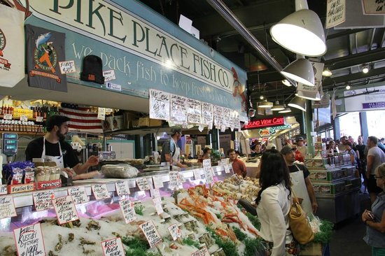 Flying fish pike place market picture of pike place for Flying fish seattle