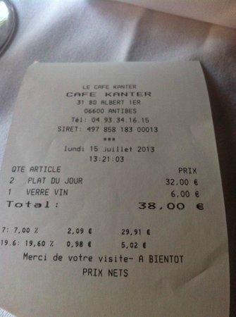 Cafe Kanter : La note ... magique!
