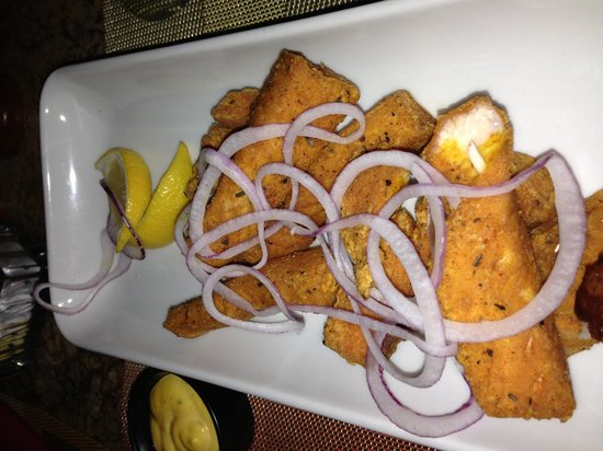 El Patio Latin Bar Cafe at Embassy Suites: Salmon Fritters