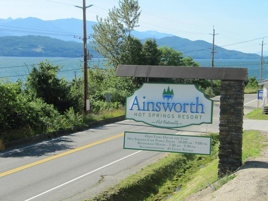 Ainsworth Hot Springs Resort: New highway signage!