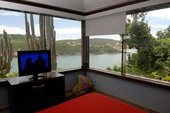 Cliffside Luxury Inn: cliffside bungalow bedroom