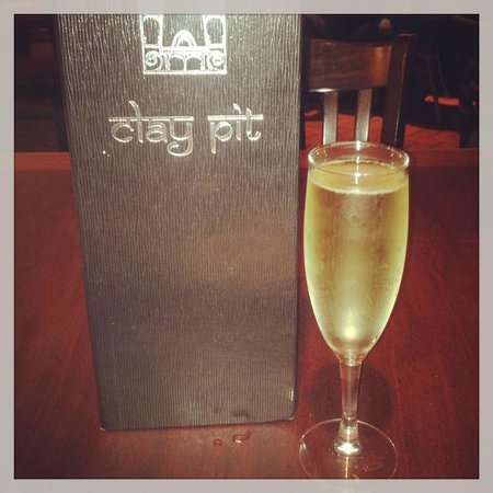 The Clay Pit: Nice sparkling wine to complement a great meal!