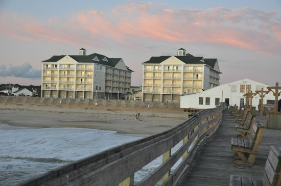 View Of Hotel From The Pier Picture Of Hilton Garden Inn Outer Banks Kitty Hawk Kitty Hawk
