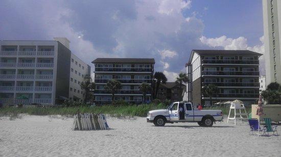 Riptide Beach Club: The 3 Riptide Buildings fromthe beach