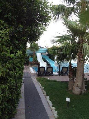 Port Side Resort Hotel: slides were a joke(