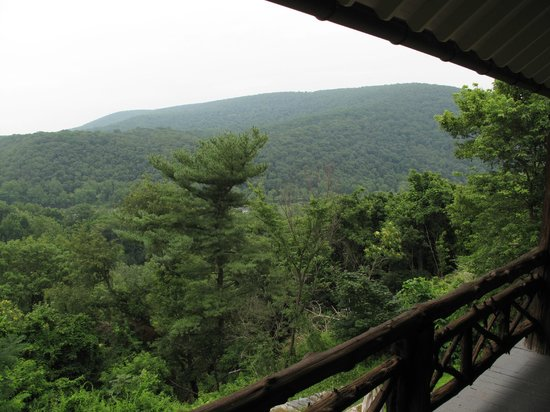 Laurel Lodge: View of Maryland Heights from the veranda