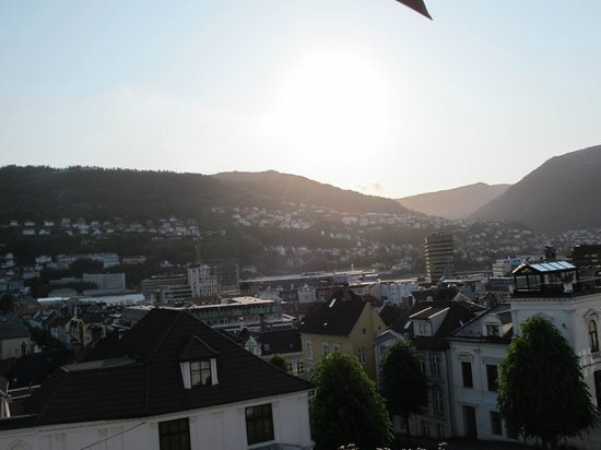 Hotel Park Bergen: Day view from room on the top floor