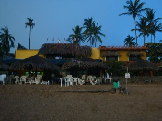 Las Brisas Hotel - Restaurant - Bar: view of hotel from beach