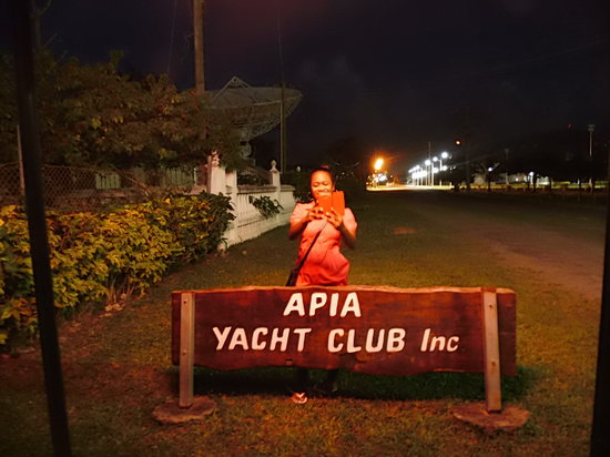 Apia Yacht club: At the entrance