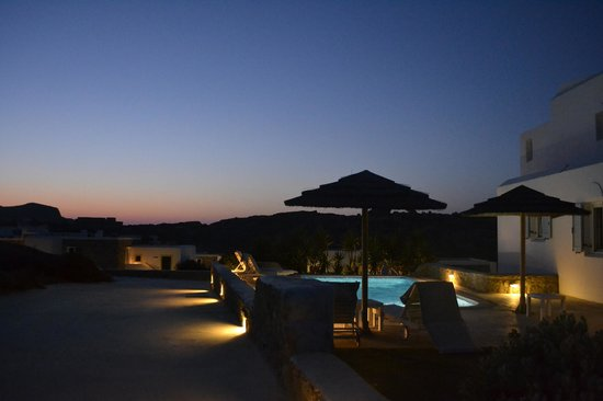 Naxian Collection : Private freshwater pool with great sunset views over mountain