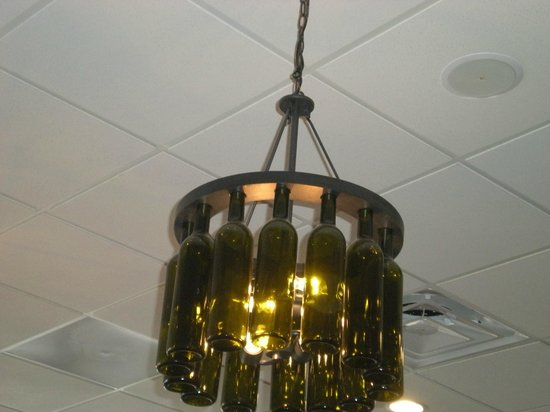 Our Daily Bread : Wine bottle chandelier