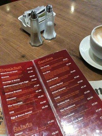 Arabica: Frukostmenyn