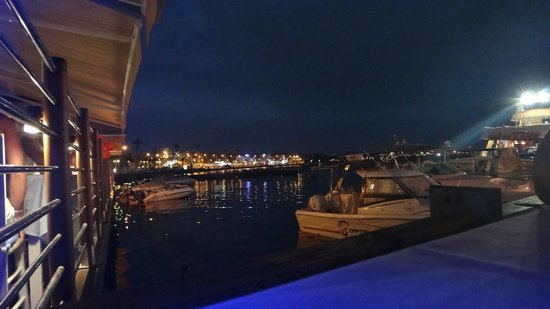 Theo's Seafood Restaurant: The view from our table